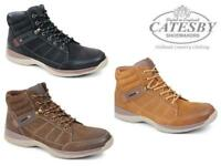 Mens Leather Ankle Boots Catesby Lace Up Winter Fashion Casual Memory Foam