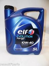 Elf 10W40 5L 5Ltr 5 Ltr Oil Semi Synthetic A3/B4 SL/CF Evolution 700 ST