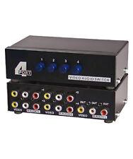 4-Way 3-RCA Audio Video AV Switch Switcher Input Selector Box