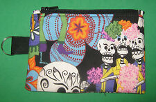 """""""DAY of the DEAD""""  Coin Purse w/ Key Ring -Handmade"""