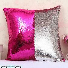 "16"" Magic Mermaid Pillow Cases Reversible Sequin Glitter Sofa Cushion Covers"