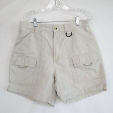 New listing Columbia Women's 100% Cotton Elastic Waist Beige Cargo Hiking Shorts Size Large