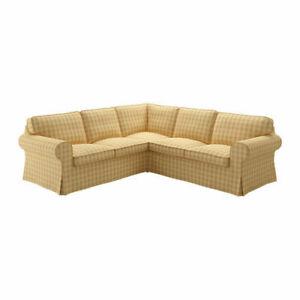 Ikea covers set for Ektorp Corner Sofa,4-Seater in Skaftarp Yellow  804.039.03
