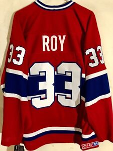 CCM Ribbed Knit LS NHL Jersey Montreal Canadiens Patrick Roy Red Lim Edit sz 2X