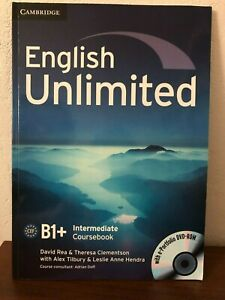 English Unlimited Intermediate B1+ Coursebook with e-Portfolio DVD-ROM - NEUF