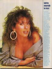 Coupure de presse Clipping 1988 Sabrina  (1 page)