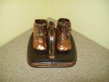 Vintage Bronze Baby Shoe Bookends