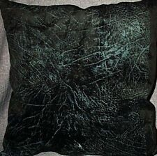"""Home Decor' Pillow Black faux Suede 17"""" inch x 17"""" inch NEW"""