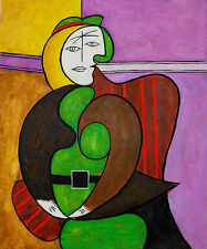 """Repro 20""""x24"""" Popular Handmade Oil Paintings Pablo Picasso - The Red Armchair"""