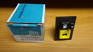 NOS 1986-1987-1988-1989 Oldsmobile Toronado Trunk & Fuel Door Release Switch