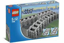 LEGO CITY Trains 7896 Straight/Curved Tracks,for Remote control, No Box - NEW