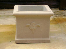 NEW 37cm Square Garden Pot With Flower Pattern