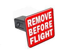 """Remove Before Flight - 1 1/4"""" 1.25"""" Trailer Hitch Cover Plug Insert RV"""