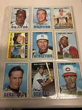 1967 Topps Lot Of 9 Vintage Baseball Cards. Includes Rookie Tom Hutton Card