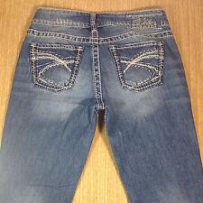 SILVER Jeans SUKI Bootcut 27x30 Medium Blue Distressed  *XLNT EUC*  J021017