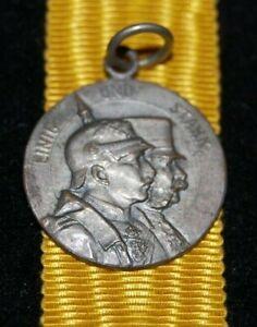 Old German/Austria littl Medal 1914 PROPAGANDA WWI, D.18,41mm, an Öse, RARE