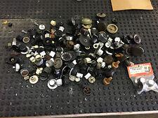 193 VINTAGE Radio Knobs Tube Lot Assortment Bakelite Plastic Chicken Head RCA ++