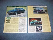 1995 Jaguar XJ Sedans Vintage Driving Impression Info Article XJ6 XJ12