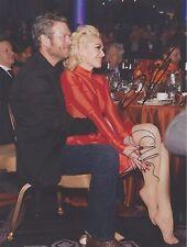 Blake Shelton (The Voice) Gwen Stefani (Feet) No Doubt DUEL-SIGNED RP 8x10 WOW!!