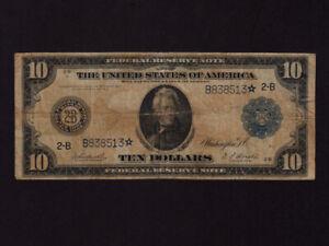 USA:FR-911a,10$,1914 * New York * STAR * Jackson * F-VF *