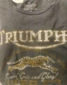 Triumph Motorcycles Worlds Fastest XXL Lucky Brand Men's Retro Grey T-Shirt