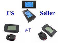 100A AC 80-260V LCD Digital Power KWh Watt Meter Volt Amp Voltmeter Ammeter CT