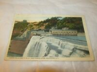 Vintage Postcard New York Lower Falls & P.R.&L. co Power House Rochester NY