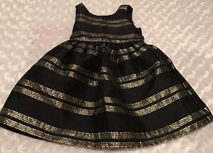 Osh Kosh Toddler Girl Holiday Dress Size 2T In EUC (BIN AG)