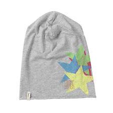 (m67) leves Freaky cara gorra Rolling Jersey Beanie con estrella y logotipo de presión
