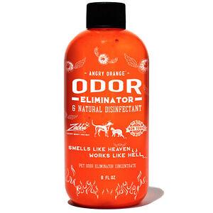 Angry Orange Pet Odor Eliminator for Carpet, Furniture and Floor Stains, 8 oz. B