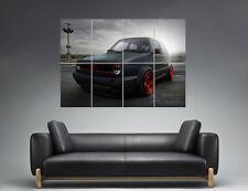 Volkswagen Golf Mk2 Black Car   Wall Art Poster Grand format A0