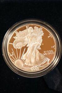 2003 Proof American Silver Eagle OMP & Cert