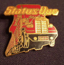 STATUS QUO BACK TO BACK CONCERT TOUR BADGE BUTTON 1984