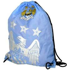 Official Manchester City Foil Print Drawstring Gym Bag  swimming sports shoe