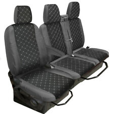 Grey-Black Diamond Tailored Polyester Seat Cover for Ford Transit Custom 2013On