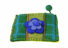 Coin Purse Currency Woman in felt Flower Wool MAA8