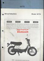 Honda NF75 (1978-1983) Genuine Factory PDI Set-Up Manual NF 75 V-Matic AE71