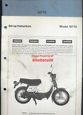 Genuine Honda NF75 (1978-1983) Dealership Set-Up Manual PDI NF 75 V-Matic AE71