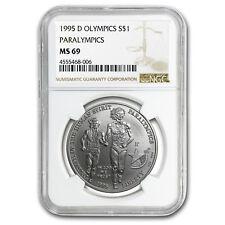 1995-D Olympic Blind Runner $1 Silver Commem MS-69 NGC