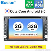"8Core Android9.0 2 DIN 6.2"" HD Car Stereo GPS Sat Nav DAB+ OBD2 WiFi 4G Radio"
