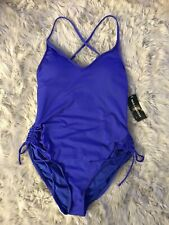 a.n.a. Palace Blue One Piece Swimsuit NWT, Women's Size M MSRP $89