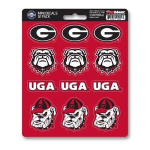 New NCAA Georgia Bulldogs Premium Vinyl Die Cut Mini Decal / Sticker Pack