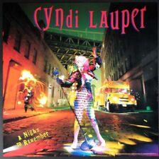 CYNDI LAUPER A NIGHT TO REMEMBER PROMO POSTER