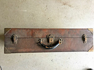 BS4 Vintage Old Machinist Tool Box Chest  Folk art 1 on earth!  toolbox antique