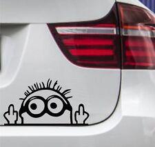 WD Autoaufkleber Minion Stinkefinger Tuning Aufkleber Sticker JDM OEM 15x9cm