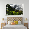 3D Greenenss Mount Trees 18 Open Windows WallPaper Murals Wall Print AJ Carly