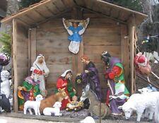 Krippenfiguren groß XXL 90 cm 15-teilig Figuren Krippe lebensecht  Weihnachten