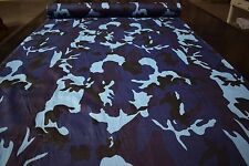"Navy Blue Urban Camo Print Quilt Fabric Craft Apparel Upholstery 45""W #9957N"