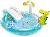 Intex 57165 Play Center piscina Alligatore con spruzzo cm 201x170x84 gonfiabile