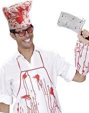 Da Uomo Donna Chef Macellaio Sanguinoso Halloween Costume Vestito KIT
